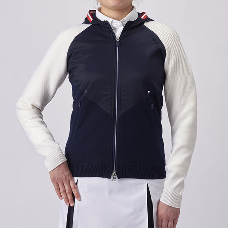 TAILORED FZ HOODIE KNIT JACKET