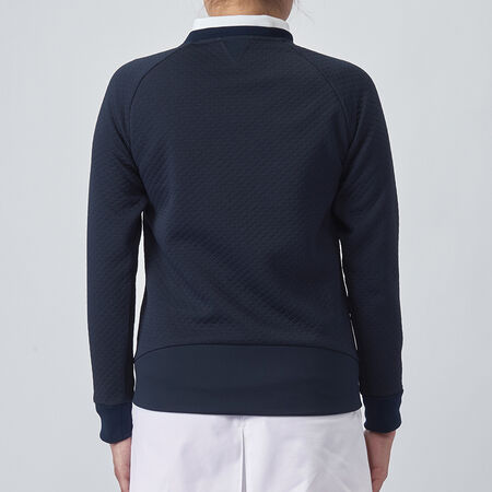 TAILORED QUILTED JERSEY CREW TOP