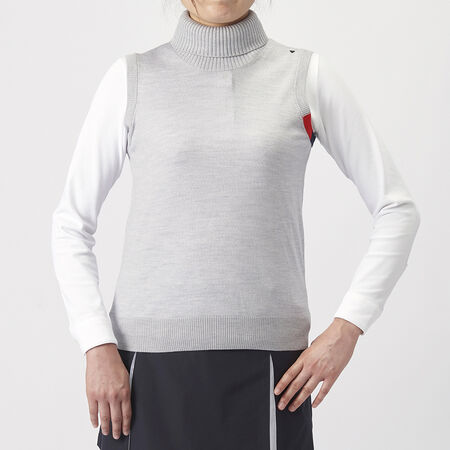 TURTLENECK KNIT VEST