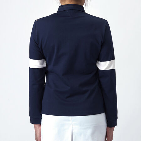 JAQUARD L/S POLO