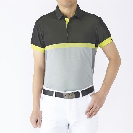 COLOR BLOCK JACQUARD S/S POLO