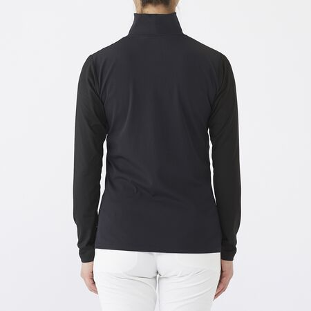 RIB NECK L/S MOCK SHIRTS