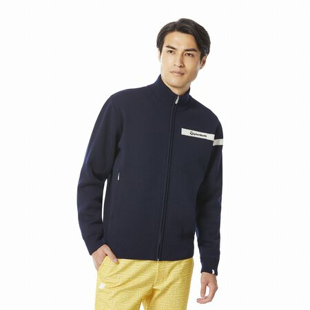 M WOOL BLENDED SWEATER LINED JACKET